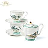 M20瑪戈隆特 西湖盛宴中國風骨瓷6頭蓮蓬茶具套裝