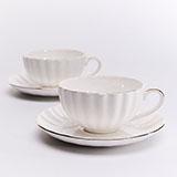 玛戈隆特 WF 4头咖啡杯碟欧式创意简约情侣对杯带礼盒装
