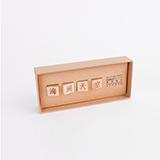 本來設計 創意文字木質吸鐵石冰箱磁性貼