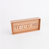 本来设计 创意文字木质吸铁石冰箱磁性贴