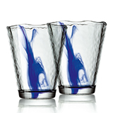 波米欧利(Bormioli Rocco)木拉诺水墨蓝杯2件套