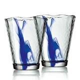 波米歐利(Bormioli Rocco)木拉諾水墨藍杯2件套