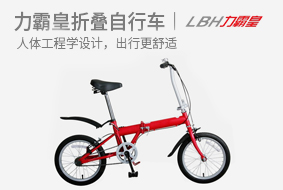 力霸皇16寸高碳钢折叠自行车LBH-16A 轻?#28903;?#21472;,炫丽车型送同事