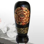 金烏炭雕富貴芙蓉燈籠瓶 富貴典雅喜氣盈庭 商務禮品