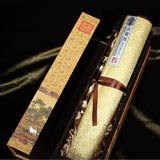 丝绸之路郎世宁丝绸《百骏图》 真丝材质古朴雅丽 新年商务礼品