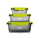 FU-A122 I DO 晶鉆三入便當保鮮盒 食品級材質 創意居家禮品