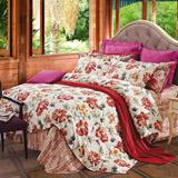 富安娜圣之花四件套柔软舒适保暖 礼赠佳品