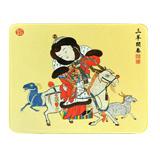 絲綢之路《三羊開泰》絲綢藝術鼠標墊絲綢彩印 新年禮品