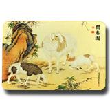 絲綢之路《開泰圖》絲綢藝術鼠標墊 絲綢彩印 送禮佳品