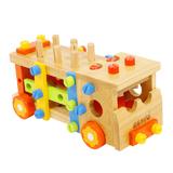 儿童节礼物推荐儿童节玩具 木玩世家拆装工具车儿童组装积木BH3301