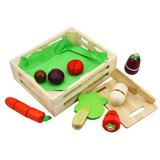 儿童节礼物推荐儿童节玩具 木玩世家积木拼插玩具 蔬菜切切看组合BH3606 安全无异味