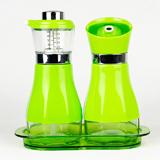 星橙焕彩油壶(AB款两件套)XC-YAB320T绿色 流畅出油 刻度量尺 厨房必备