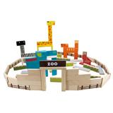 儿童节礼物木玩世家 爱木条条木积木i3002 益智拼搭木制玩具