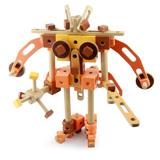 儿童节推荐礼物木玩世家 古代机械MMBL13006 益智拼装木制玩具