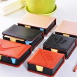 皮质盒装广告便签本 广告促销品可提供多种款式 可定制logo 起订量2000