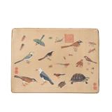 杭州造府珍禽图锦案 真丝织锦真丝鼠标垫 收藏珍品商务礼品