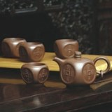 和记张生国富民丰紫砂套壶 手工喷砂外包装烫金银红 商务礼品