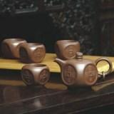 和記張生國富民豐紫砂套壺 手工噴砂外包裝燙金銀紅 商務禮品