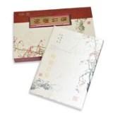 絲綢之路《梅蘭竹菊》絲綢郵票冊 絲綢工藝品 商務禮品