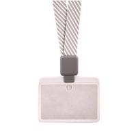 卡德仕高档时尚胸卡证件套 IC/ID 透明磨砂卡套 伸缩扣挂绳