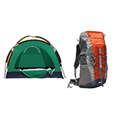 领路者 三人帐篷 LZ-0515 + 维仕蓝 晨歌户外登山包WB1022