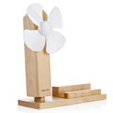 Seenda  iphone6s手机支架 三星s7创意桌面木质支架 usb清凉小风扇