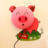 生活演异 花颜墙贴壁灯 DIY创意礼物 粉红猪
