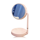 化妆镜台灯可充电梳妆台式公主镜简约便携式折叠LED阅读灯补光镜