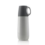XD Design Bopp 都市双层不锈钢带杯保温瓶 灰色瓶盖