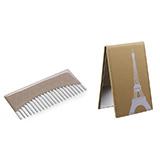 NANV镜子梳子套装 便携镜子梳子创意礼物