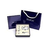 HooLee商务礼品套装男士 笔钥匙扣名片夹套装HO03