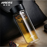 HAERS哈尔斯 双层隔热水杯 300ml