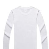 广告衫06 纯色空白T恤 圆领长袖 可印字印图