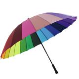 优优祝福24骨超大彩虹伞 结实抗风强设计时尚 可定制起订量500企业团购