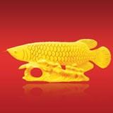 七里香金龙鱼摆件 高端贵气 收藏珍品商务礼品