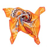 万事利 旋转时光大方巾 华丽图案 时尚创意礼品