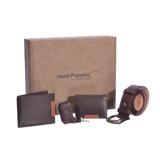 暇步士 礼盒四件套 (钱夹、名片夹、皮带、钥匙扣)
