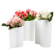 瓯粟婀娜多姿水滴花瓶组合(三件套)送朋友|送同事|创意时尚|市场促销