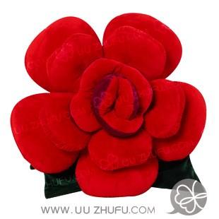 推荐二:玫瑰花抱枕[ 商品编号:200